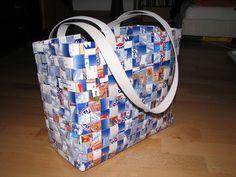 bastelnixe: Tetra-Pak Tasche aus Milchtüten