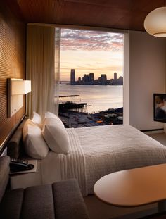 Man of the rooms at The Standard Highline offer unparalleled views of the Hudson.