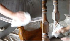 before and after basics: whitewash – Design*Sponge Paint Furniture, Furniture Making, Home Furniture, Whitewashing Furniture, Mission Furniture, Furniture Design, Whitewash Paint, White Washed Furniture, Diy Dining Table