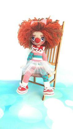 Купить куклу ручной работы.кукла амигуруми Ольги Коновниной. #ольгаконовнина#кукла#клоун#вязаннаякукла#вязание#doll#crochetdoll#crochet