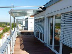 Balkon und Terrasse einer Wohnung der Residenz Bellevue in Günzburg