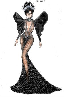 Fashion Figure Drawing, Fashion Drawing Dresses, Fashion Illustration Dresses, Fashion Design Drawings, Fashion Sketches, Couture Fashion, Fashion Art, Estilo Beyonce, Drag Queen Outfits