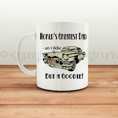 Father's Day Mug - Classic Car Mug - Mugs for Dad - Coffee Mug - Car Themed Coffee Mug - Gifts for Him - Father's Day Gifts by GypsyJunkClothing on Etsy
