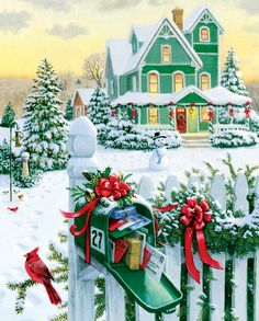 Holiday Mail, a 1000 piece jigsaw puzzle by Springbok Puzzles.