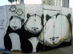 Angry Panda Graffiti #panda #graffiti