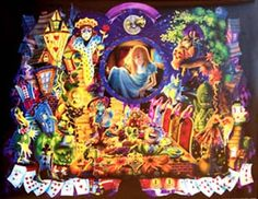 A colorful poster of all the strange characters from Alice in Wonderland! Art by Richard Biffle. Published in 1999. Ships fast. 24x36 inches. Need Poster Mounts..? su3000