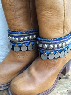 Bohemian boot belts from Ibiza by AUROBELLE on Etsy, €50.00