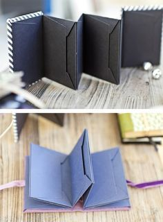 Love this thing. How to make your own mini albums. Tut in French - Idee für Briefumschlag (C6) - Leporello (oder für Mini mit Scalloped Envelope / SU)