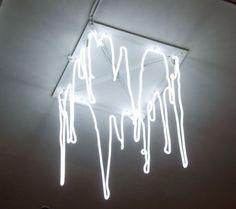 art noeveau, cave like, Neon drippy light - Kori Newkirk, Studio Museum - Custom Work by Lite Brite Neon Neon Aesthetic, White Aesthetic, My New Room, My Room, Lite Brite, All Of The Lights, Luz Led, The Doors, Light Installation