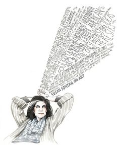 "Susan Sontag on Art: Illustrated Diary Excerpts by Maria Popova  ""Art is a form of consciousness."""