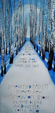 In the bleak mid winter by samcannonart