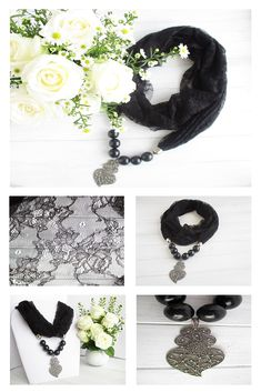 Hello all you beautiful ladies, and welcome to SoSoLovely.My name is Laurika and I am the owner of this online store that sells these beautiful pendant scarf. Scarf Necklace, Fabric Necklace, Scarf Jewelry, Bohemian Style Clothing, Gypsy Style, Handmade Shop, Handmade Jewelry, Lace Scarf, Cowls