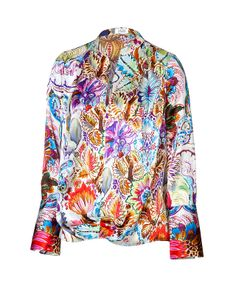 steffen schraut silk floriana blouse