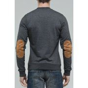 DML Jeans Mens crew knit jumper in charcoal
