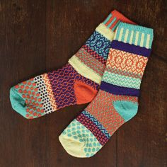 Solmate socks… Intentionally mismatched and great quality…got a pair for Christmas and pretty much haven't taken them off yet…LOVE Solmate Socks, Cozy Socks, Fun Socks, Silly Socks, Awesome Socks, Knit Socks, Look Fashion, Winter Fashion, Over Boots