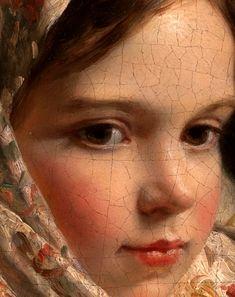 """greuze: """"escuela rusa, Retrato de una muchacha (detalle), Siglo 19"""""""