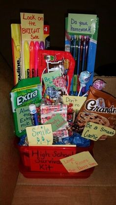 High School Survival Kit | DIY Graduation Party Ideas for High School