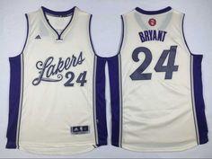 $21.5 Adidas Los Angeles Lakers #24 Kobe Bryant Cream White 2015-2016 Christmas Day NBA Swingman Stitched Jersey   cheap jersey from China