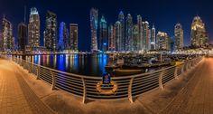 Dubai - Marina Skyline Panorama by Jean Claude  Castor on 500px