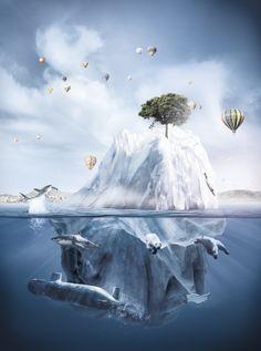 Iceberg Fantasy Land by Richard Fraser, via Behance