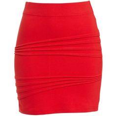 Bardot New Diagonal Skirt ($22) ❤ liked on Polyvore featuring skirts, mini skirts, saias, bottoms, faldas, red, zipper mini skirt, short skirts, zipper skirt and pleated skirt