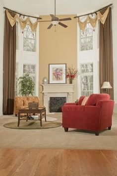 Family Room - Drapery, Valances, and Rods - traditional - living room - dc metro - Dress Your Windows LLC