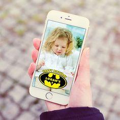 Snapchat Geofilter Birthday Geofilter Batman by BrightPaper