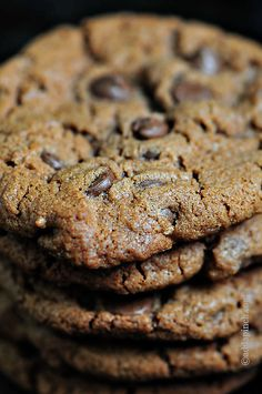 Nutella Chocolate Chip Cookies | ©addapinch.com