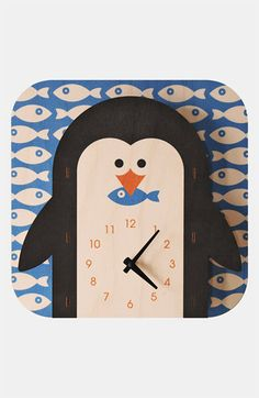 Modern Moose 'Penguin' Clock available at #Nordstrom