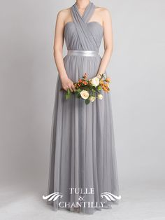 Tulle Convertible. If only this was in white, this would be a beautiful wedding dress.