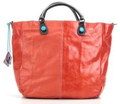 Ciclamino Shopper Leder orange 31 cm