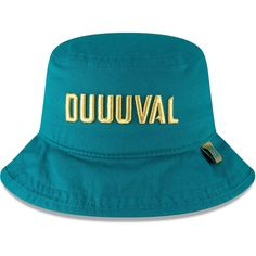e0b6a104232 Men s Jacksonville Jaguars Jalen Ramsey New Era Teal Design Lab Duuuval  Bucket Hat