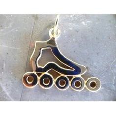Inline Skate Pendant Cut Out by Skate Art This beautifully crafted pendant is available in sterling silver. Speed Skates, Skate Art, Inline Skating, Freestyle, Roller Skating, Sport, Key Chain, Volleyball, Hockey