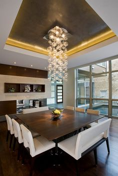 Beautiful Modern Dining Room Ideas Dark Grey Ceilings And Dark