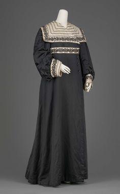 Women's silk satin beaded coat, from Liberty & Co., ca. 1905.