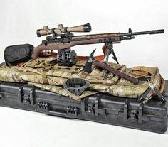Crazyhorse Semi-auto sniper system with Leupold Optics riflescope. Revolver, Battle Rifle, Springfield Armory, Molon Labe, Custom Guns, Cool Guns, Military Weapons, Rifle Scope, Guns And Ammo