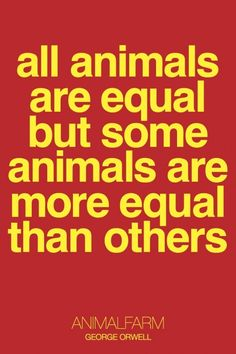 Animal Farm by George Orwell - a cautionary tale