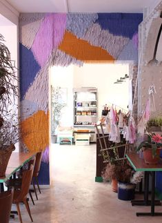 I am obsessed with Confetti Systems and this is one of their projects. I think I will do a wall like this in my next apartment <3