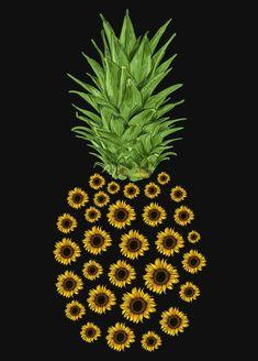 Trends New Design Sunflower Quotes, Sunflower Pictures, Sunflower Art, Sunflower Iphone Wallpaper, Pineapple Wallpaper, Graphic Wallpaper, Wallpaper Backgrounds, Sugar Skull Art, Pretty Wallpapers