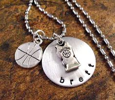 Basketball Necklace Basketball Jewelry by CharmAccents on Etsy, $20.00