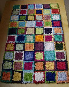 hooked rag rug by rugrug, via Flickr