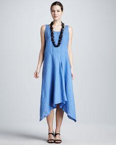 5fa6518fe06 Eileen Fisher Linen Dropped-Waist Dress - Neiman Marcus Drop Waist