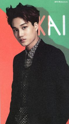 EXO's 2014 Official calendar - Kai. 1 of the 3 that didn't have a sport and just stood there. Who needs props if it's Kai?