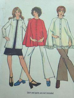 Simplicity 9869 Size 10 Sewing Pattern Women's Cape Cardigan | eBay