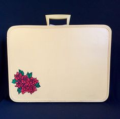 Hand-Painted Vintage Monarch Suitcase by TTLGFurnishings on Etsy