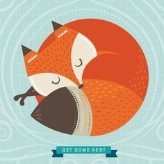 SLEEPING FOX - print & pattern: DESIGNER - stacy peterson