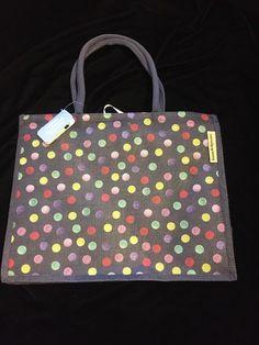 efd6277461e Waitrose Emma Bridgewater Blue Polka Dots Bag UK England Green Red Shopping  PVC