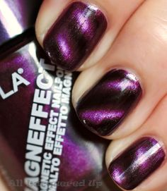 Layla Magnetic Nail Polish.    Such a cool colour and available now at www.candygirl.co.nz