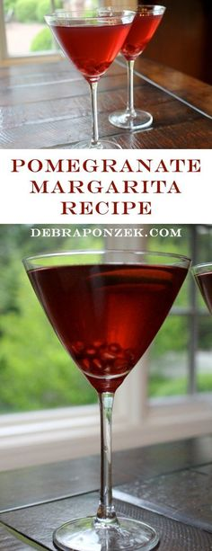 Just a little sweet and not too sour! This delicious pomegranate margarita recipe from DebraPonozek.com is the perfect happy hour drink!