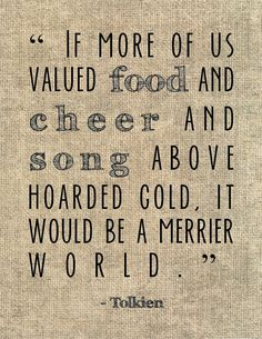 The Hobbit quote typography print. #books #quotes #typography